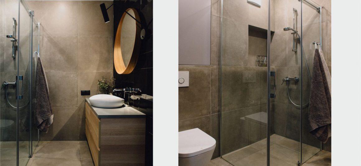 projekt łazienki, kabina prysznicowa