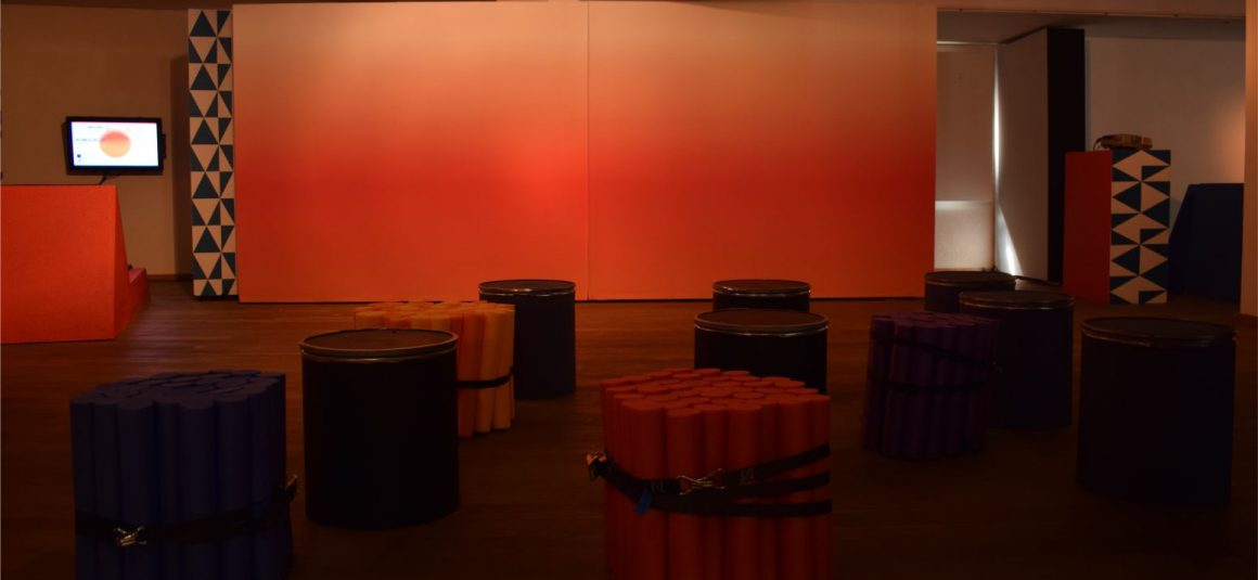 kolor, instalacja kino design,