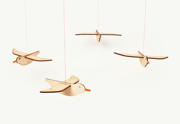 zabawka, sklejka, dizajn, projektowanie, ptaki