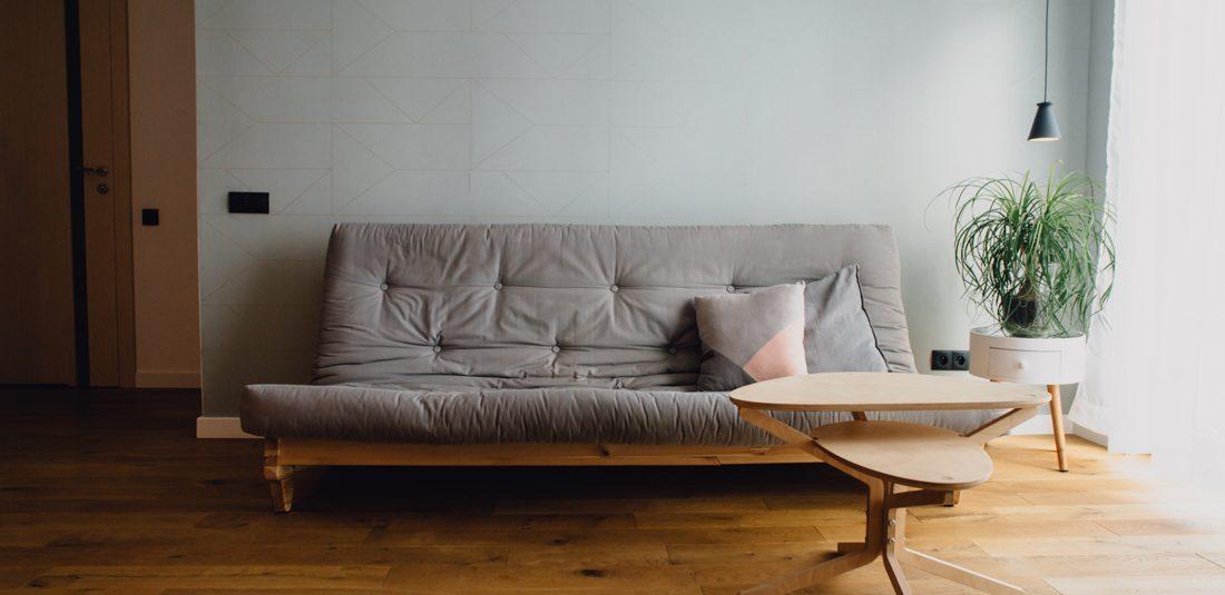 Salon sofa minimalizm, prostota