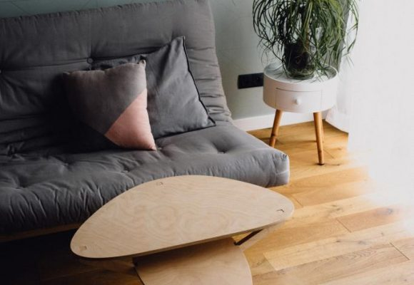 stolik kawowy, sklejka, dizajn, projektowanie, wzornictwo, polski produkt