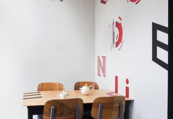 dizajn, projekt, design, drewno, dąb, litery na ścianie
