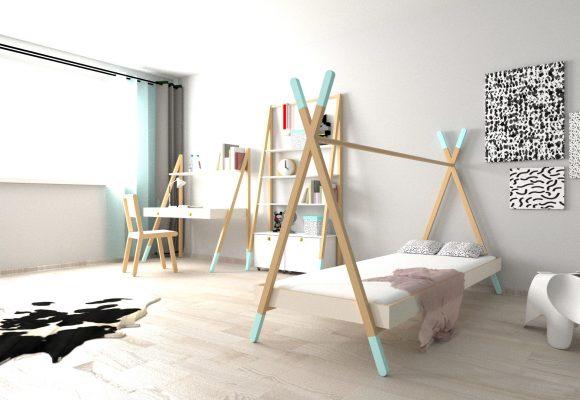 meble dla dzieci, namiot tipi, dizajn, projektowanie produktu