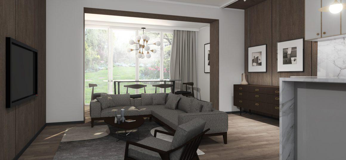 projekt dużego pokoju, dizajn, projekt, design, projekt wnętrza, meble,