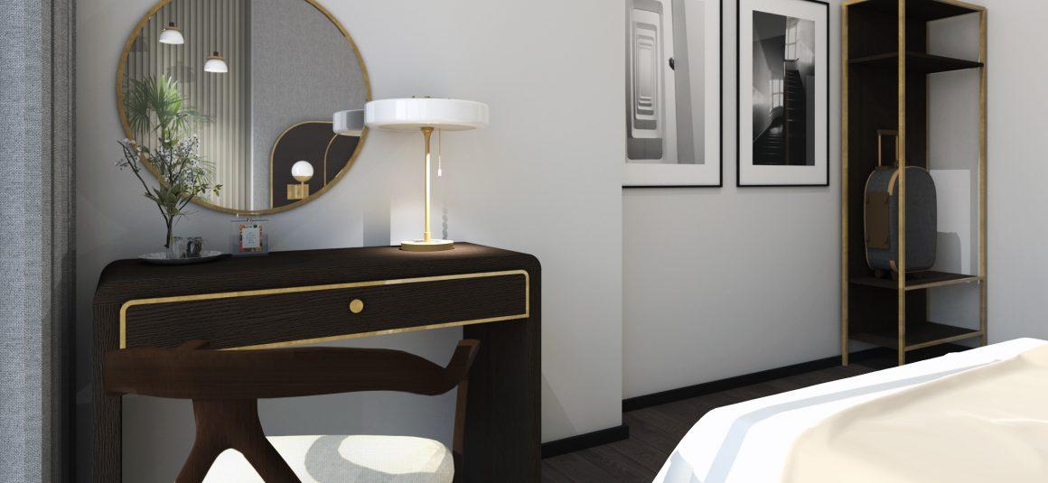 projekt sypialni, dizajn, projekt, design, projekt wnętrza, meble,