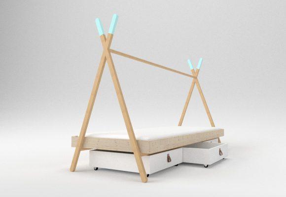 meble dla dzieci, namiot tipi, dizajn, projektowanie produktu, łóżko