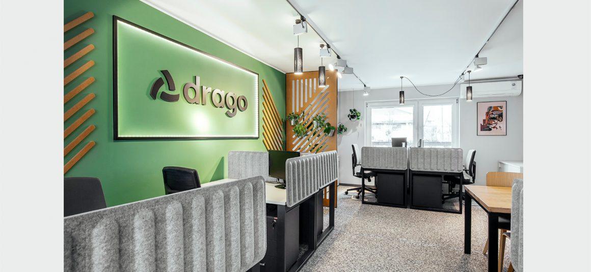 zieleń, rośliny w biurze. projekt wnętrza biura, miejsce pracy