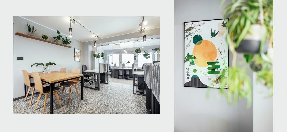 plakaty, Natasza Kwiatkowska, projekt wnętrza, przestrzeń biurowa